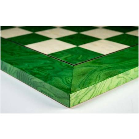 Tablero ajedrez madera Verde De Luxe 50 cm. Rechapados Ferrer