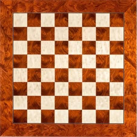 Tablero ajedrez madera Rojo de Luxe 55 cm. Rechapados Ferrer