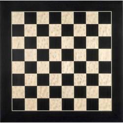 Tablero ajedrez madera Negro de Luxe brillo 45 cm. Rechapados Ferrer