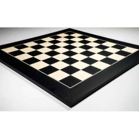 Tauler escacs fusta Negre de Luxe brillo 45 cm. Rechapados Ferrer