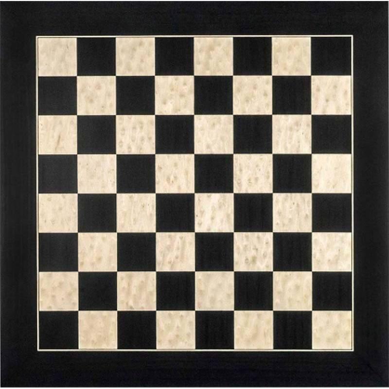 Chess Deluxe black wooden board Rechapados Ferrer