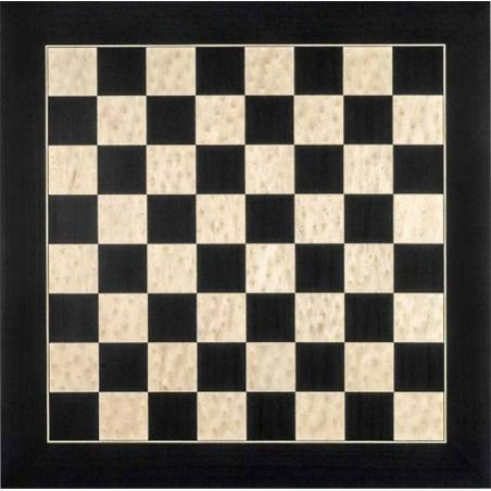Chess Deluxe black wooden board Rechapados Ferrer
