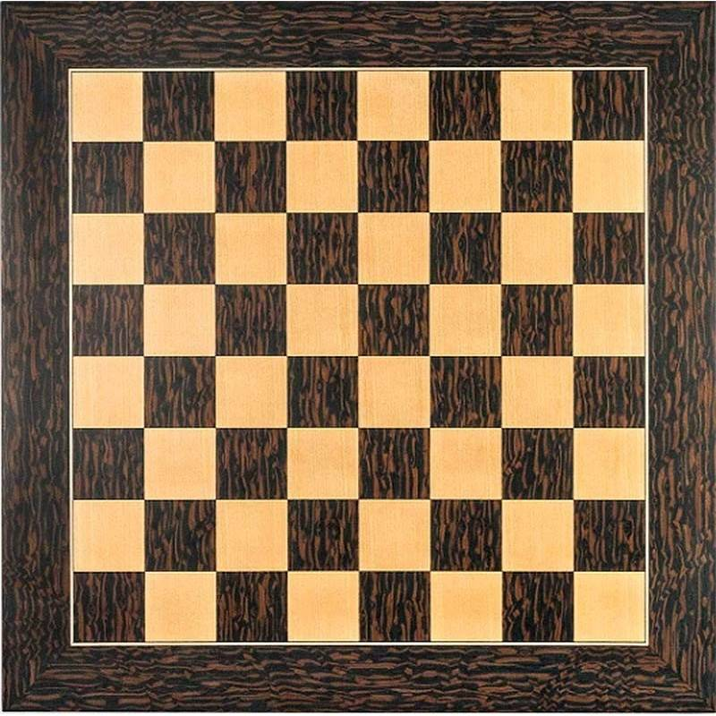 Chess Deluxe ebony tiger wood board
