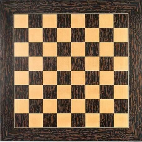Tablero ajedrez madera ébano tigre deluxe
