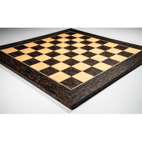 Chess Deluxe ebony tiger wood board