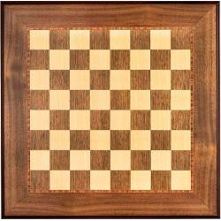 Chess board Walnut wood trim. Rechapados Ferrer