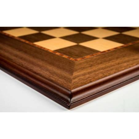 Tauler escacs Fusta de noguera amb motllura