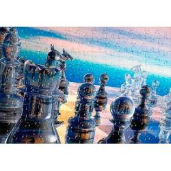 Puzzle con diseños de ajedrez modelo 3