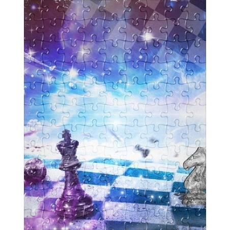 Puzzle con diseños de ajedrez modelo 4