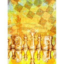 Puzzle with chess designs model 6