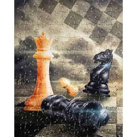 Puzzle de ajedrez modelo 8 varios diseños