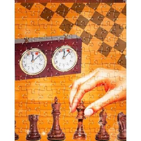 Puzzle con diseños de ajedrez modelo 10