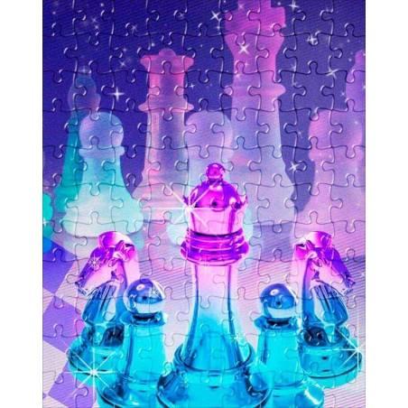 Puzzle con diseños de ajedrez modelo 12