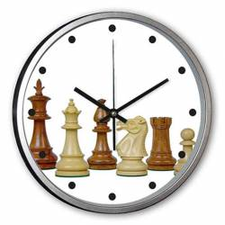 Custom wall clocks with chess drawings