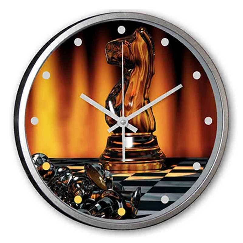Relojes de pared personalizados con dibujos  de ajedrez