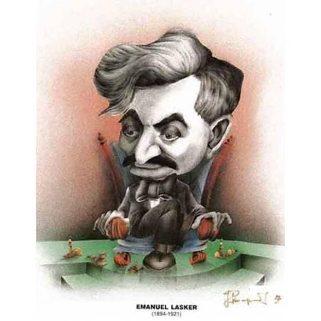 Caricatura campeones del mundo Emmanuel Lasker