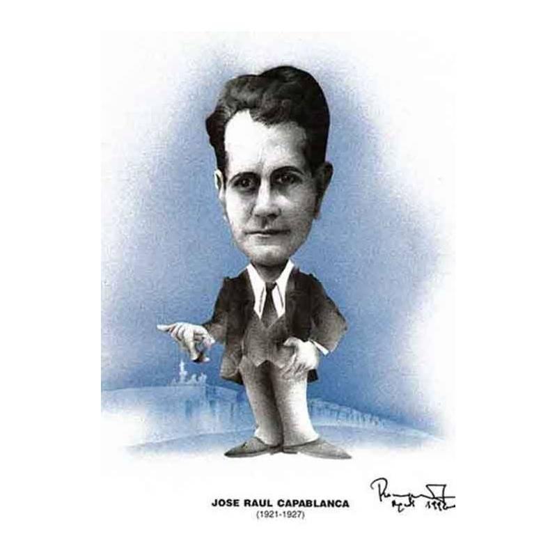 Caricatura campeones del mundo Jose Raúl Capablanca