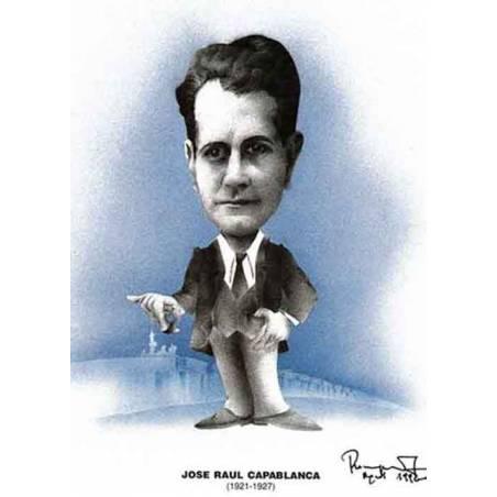 Caricatura campions del mon Jose Raúl Capablanca