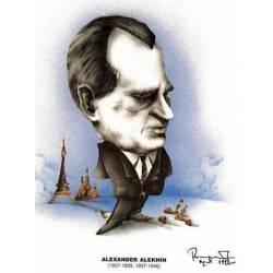 Caricatura campeones del mundo Alexander Alekhine