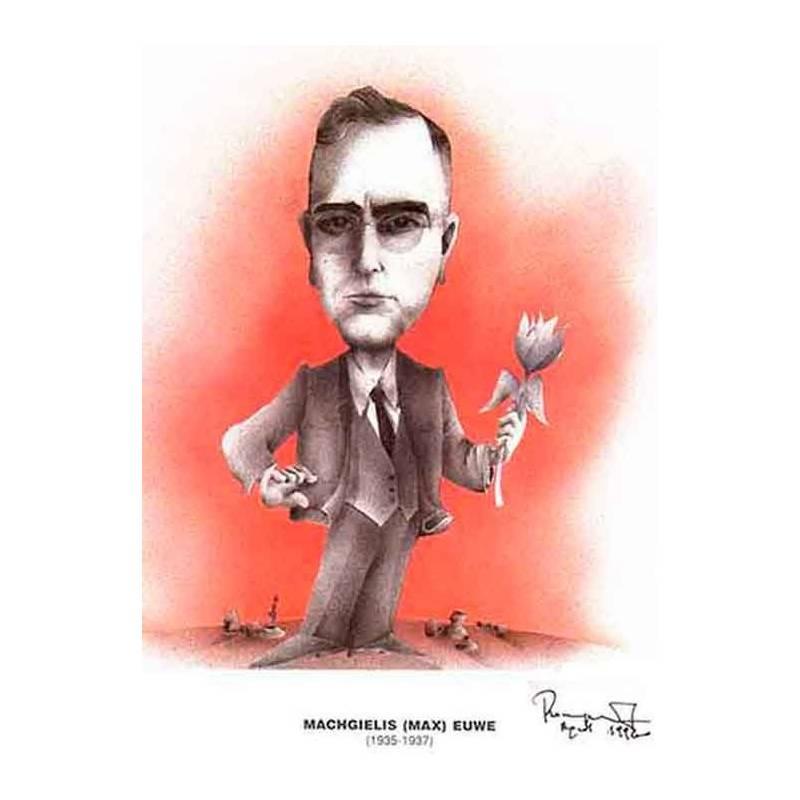 Caricatura campions del mon Max Euwe