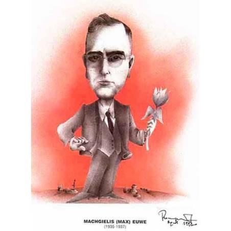 Caricatura campeones del mundo Max Euwe