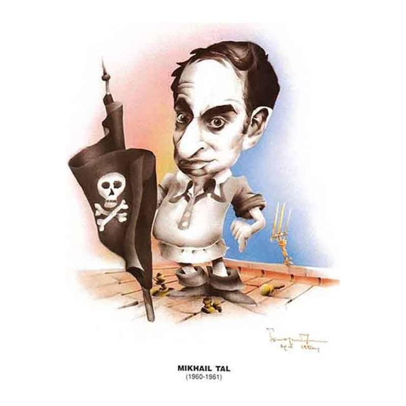 Chess world Cartoon Mikhail Tal