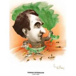 Chess world Cartoon Tigran Petrosian