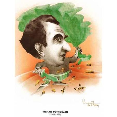 Caricatura campions del mon Tigran Petrosian