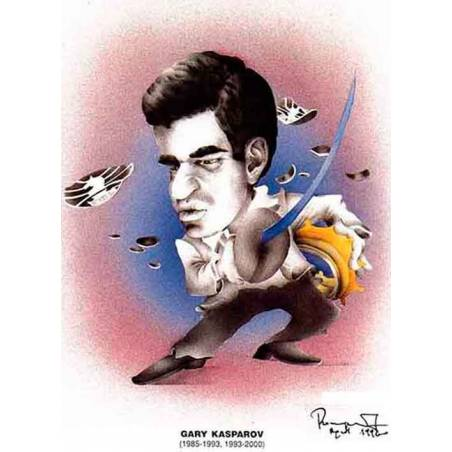Caricatura campions del mon Garry Kasparov