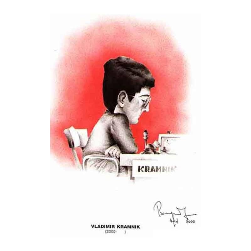 Caricatura campeones del mundo Vladimir Kramnik