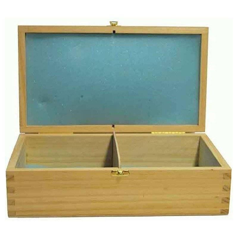 Estoig de fusta obertura frontal  26,5 cm. per guardar peces escacs