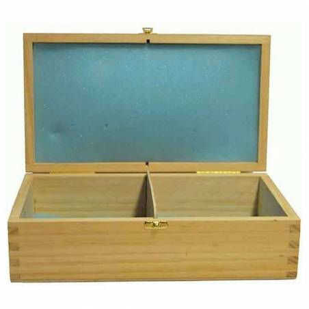Wooden case front opening 26,5 cm. for save chess pieces