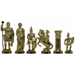 Piezas de ajedrez de plástico Modelo Roma brillante