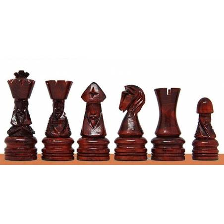 Piezas de ajedrez de madera Corona