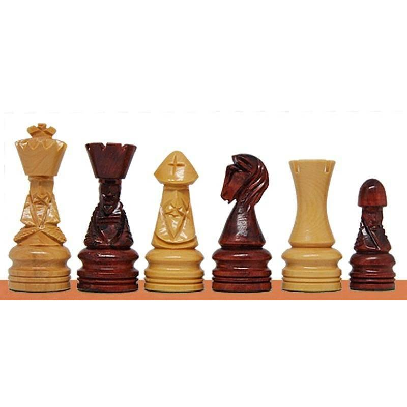 Chess wooden pieces Corona