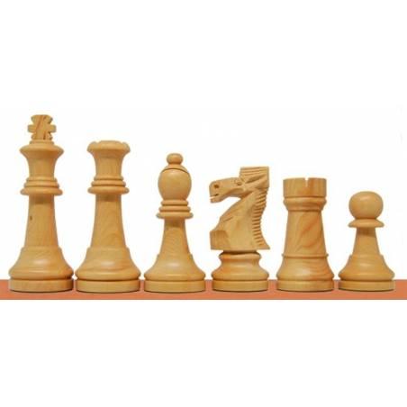 Peces escacs de fusta model Polit
