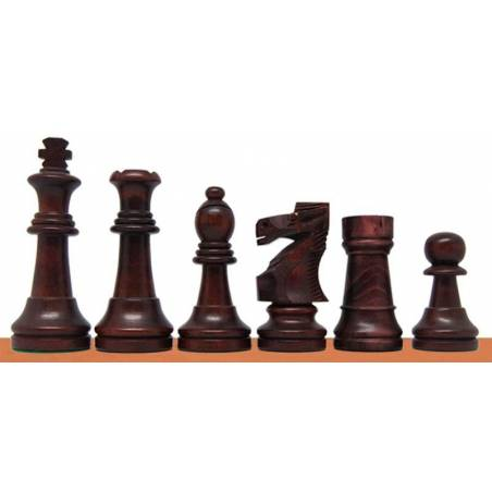 Chess wooden pieces model Polished