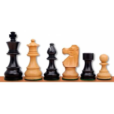 French style chess wood pieces King 76 mm.