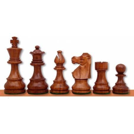 Piezas ajedrez madera estilo Francés Rey 76 cm.