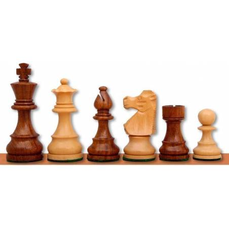 Peces escacs fusta estil francès Rei 76 cm.