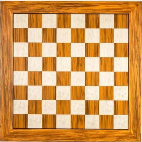 Tablero ajedrez madera Olivo 50 cm. Rechapados Ferrer