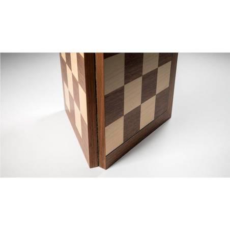 Tauler escacs Fusta noguera plegable superior
