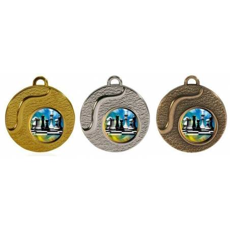 Chess medals for their championships 50 mm. 033L