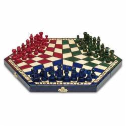 Escacs 3 jugadors plegable 39 cm.