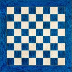 Tablero ajedrez madera Azul brillo deluxe 50 cm. Rechapados Ferrer