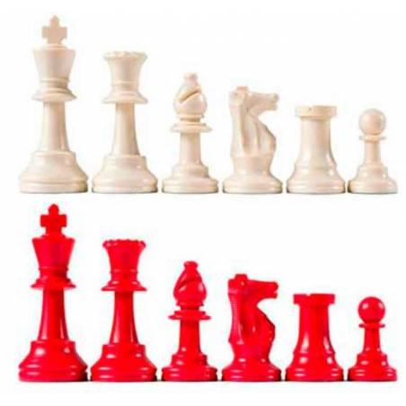 Piezas ajedrez de colores para colegios