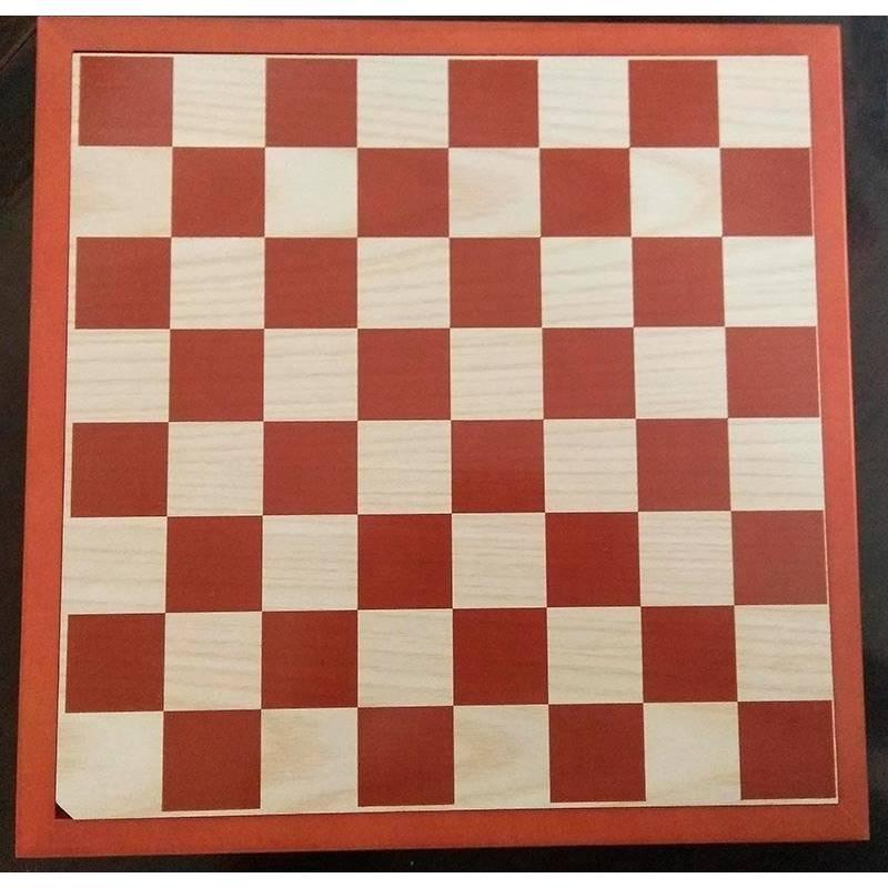 Tablero de ajedrez de madera 31 cm. con tapa