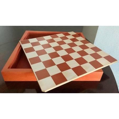Tauler d´escacs de fusta 31 cm. amb tapa