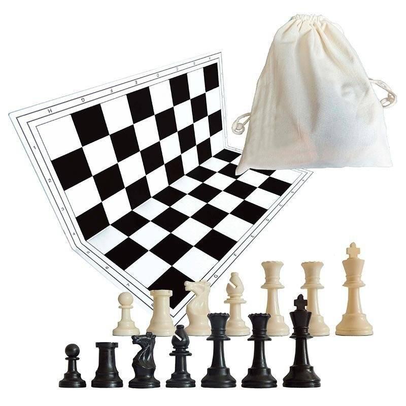 Tablero y piezas de ajedrez de color negro