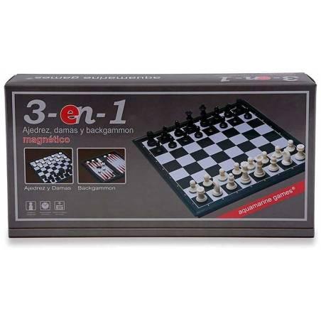 Escacs - Dames - Backgammon magnètic